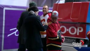 Inspirational young high school student athlete Doug Jarvis meets Calgary Flames